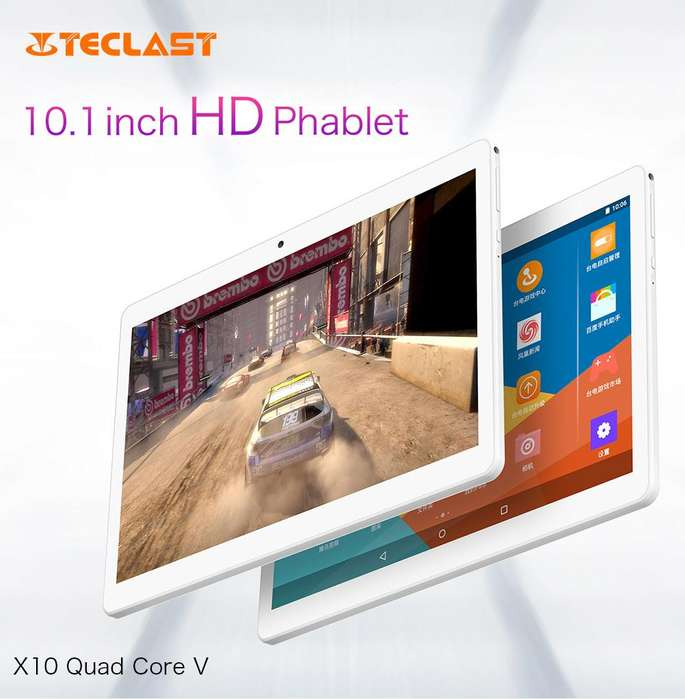 Tablet 10.1 Android 6.0 Quad Core, Bateria 5000 mAh, Telefono Dual Sin