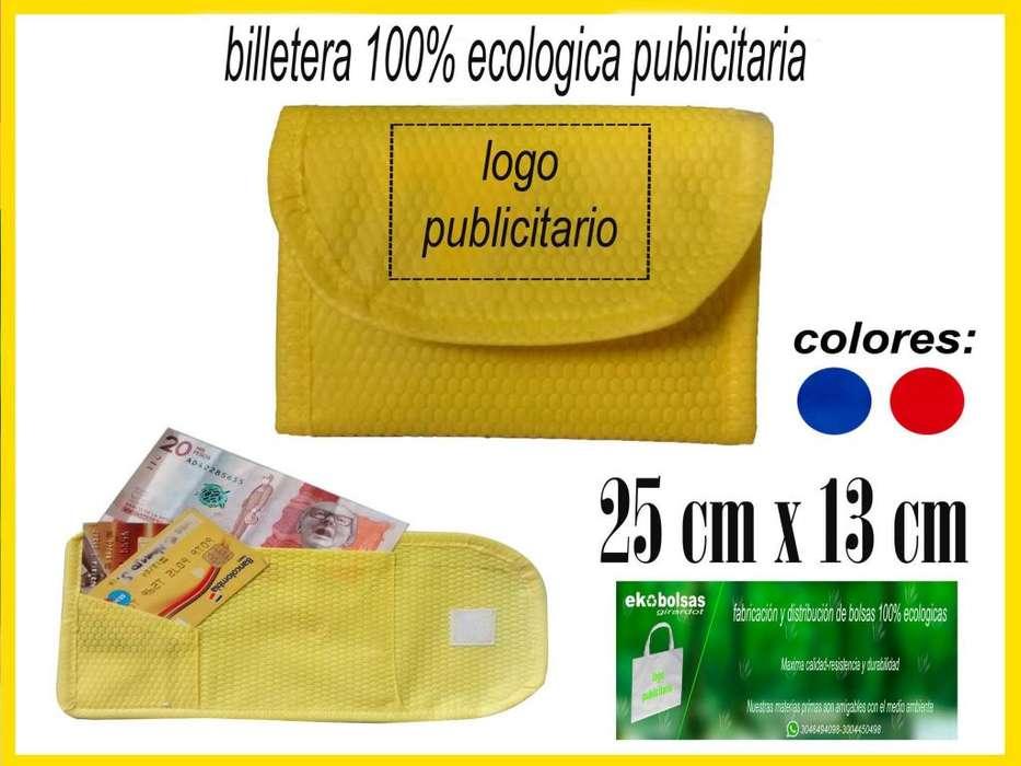 BILLETERAS 100% ECOLOGICAS PUBLICITARIAS (CAMBREL)