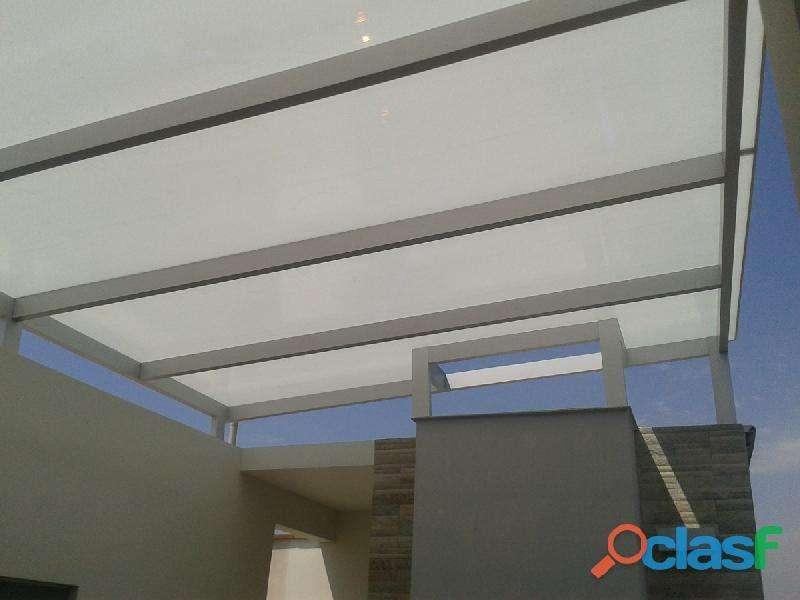 Techos de policarvonato , y calamina con estructuras de Aluminio y fierro trabajos con DRYWALL 910537446