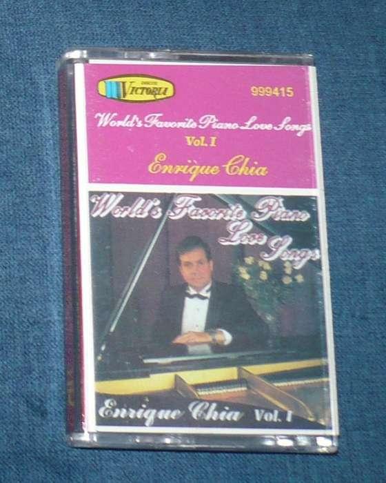 Enrique Chia World's Favorite Piano Love Songs Cassette casete
