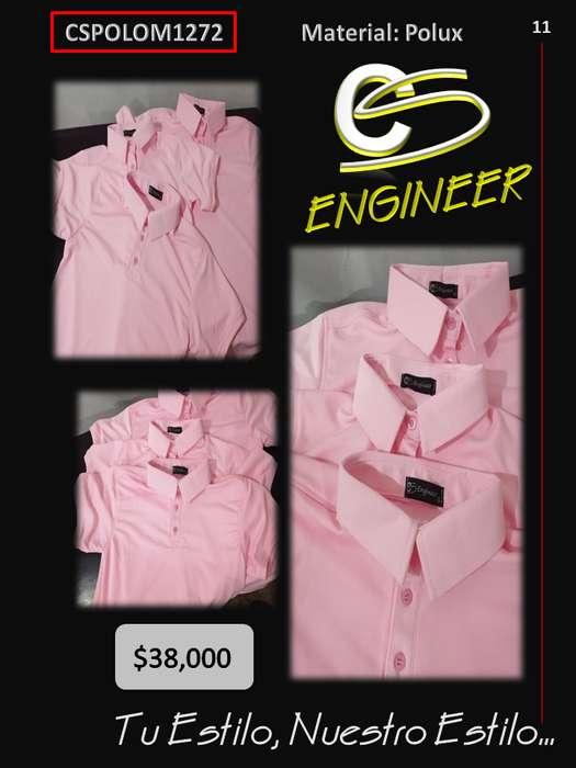 Suéter Tipo Polo Color Rosado
