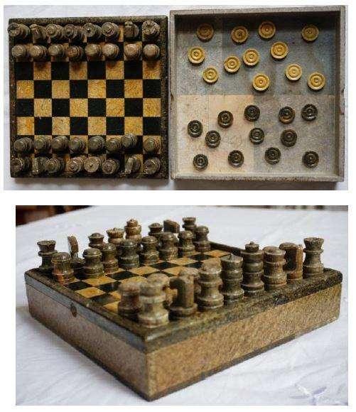 Juego de ajedrez y de damas