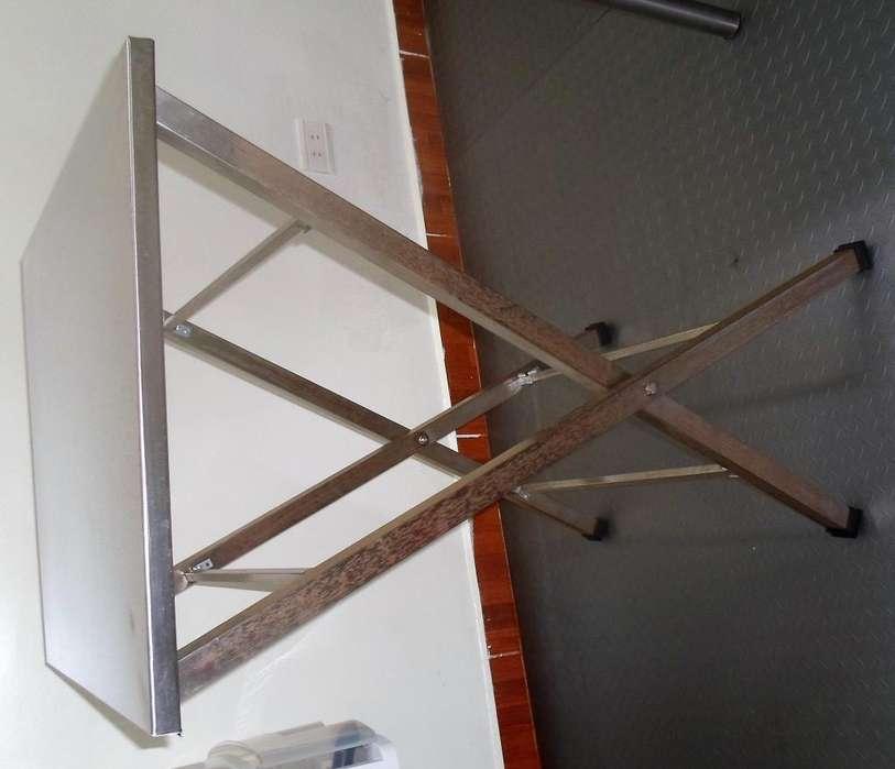 mesas en acero inoxidable base plegable acero inoxidable