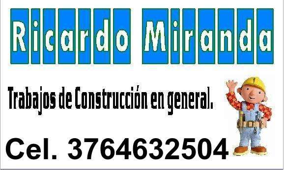 Trabajos de construcción en general