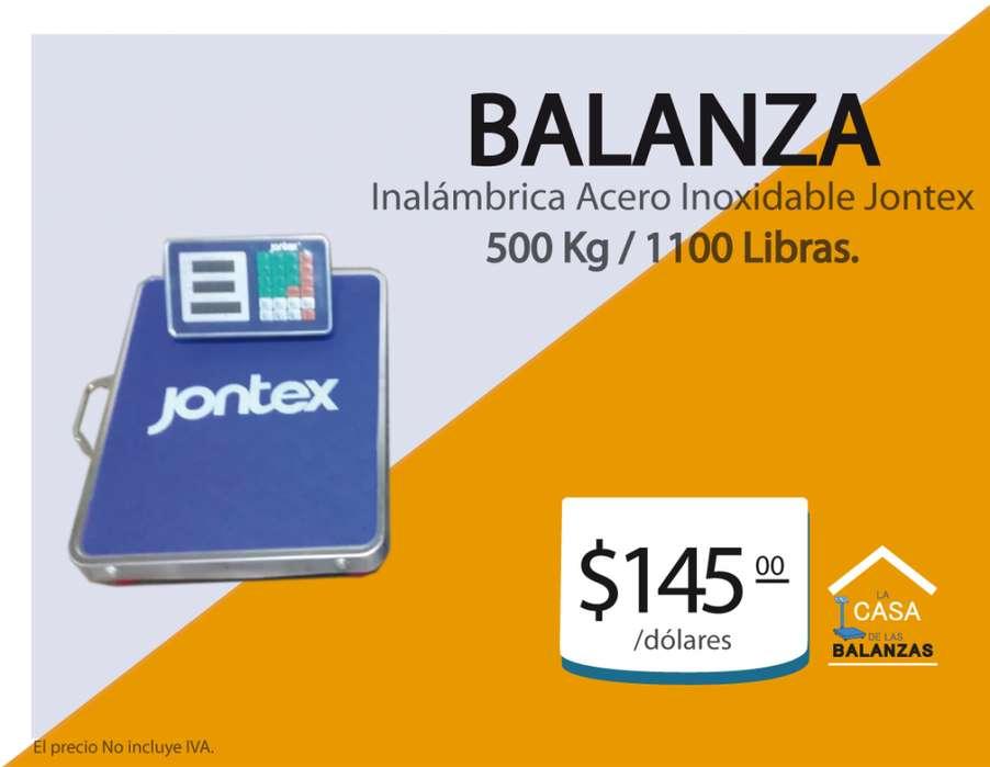 Balanza Inalámbrica Jontex 500 Kg / 1100 L