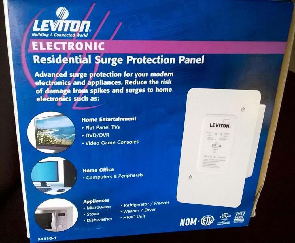 Protector Voltaje Leviton para Casa o Apto Nuevo