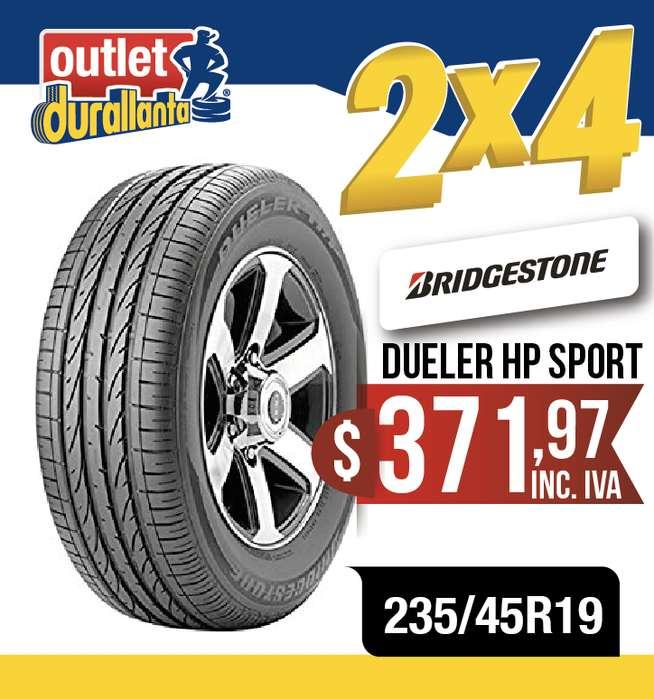 LLANTAS 235/45R19 BRIDGESTONE DUELER HP SPORT A6 A7 A8 Allroad Q3 S6 S7 500X CR-V Genesis Tucson ix35 Compass 508