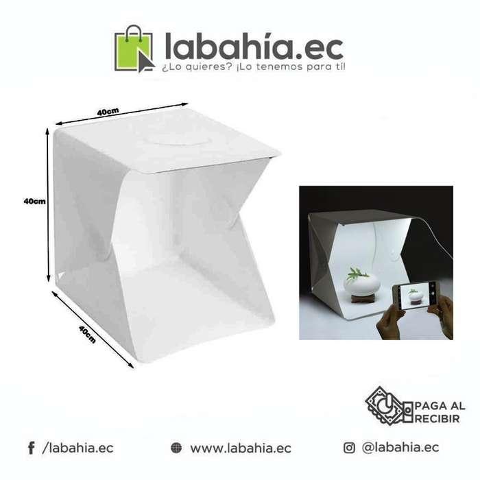 Caja estudio fotografico Portatil 40x40x40 Cm / Con Luz Led