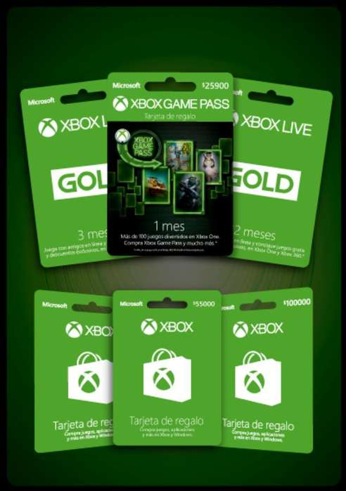 Tarjetas Regalo Xbox One