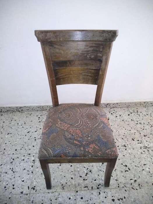 6 <strong>silla</strong>s de Madera Estilo Rustico en Roble Macizo, Robusto Secado e Inmunizado