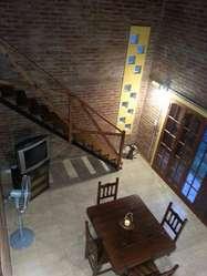 ht96 - Cabaña para 2 a 5 personas con pileta y cochera en Sauce Viejo