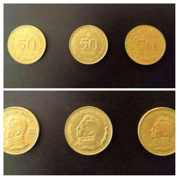 Moneda Arg 50 Pesos Ley 18188 San Martín