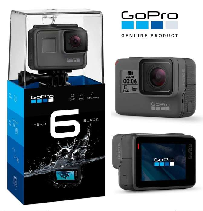 Camara Go Pro Hero 6 Black 4k Zoom Touch Sumergible *LOCAL*