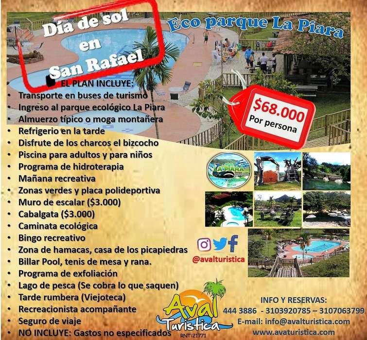 Dia de sol en el ecoparque la piara en SAN RAFAEL , ANTIOQUIA Desde 68.000