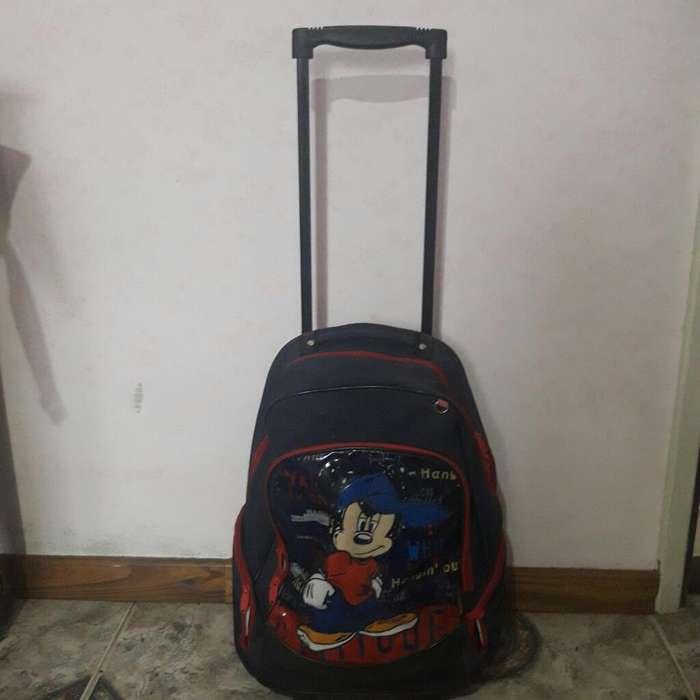 Mochila Mickey Carrito 48 Cm