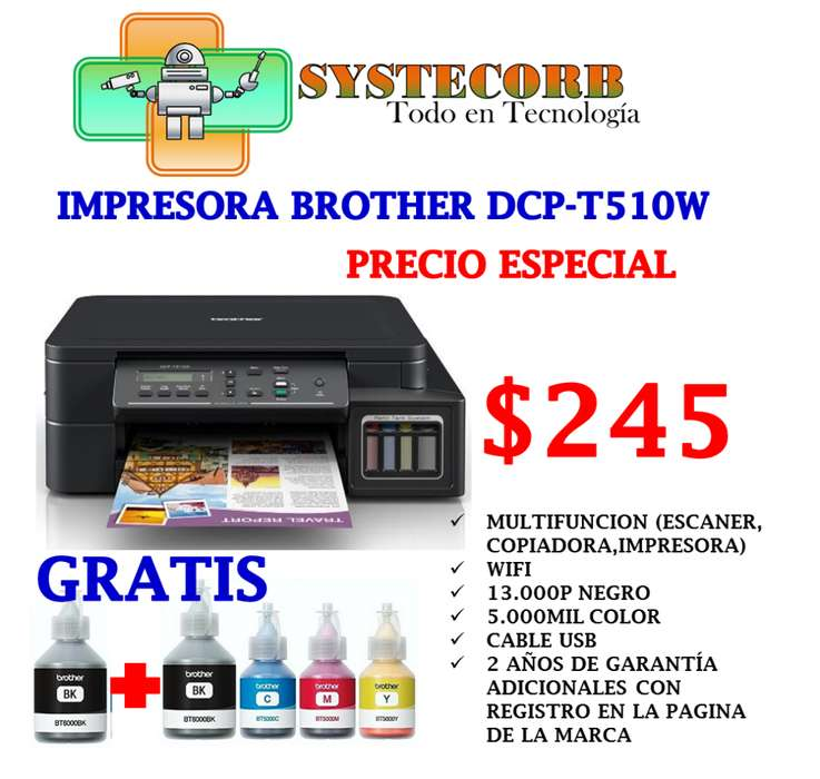 <strong>impresora</strong> BROTHER DCP-T510W