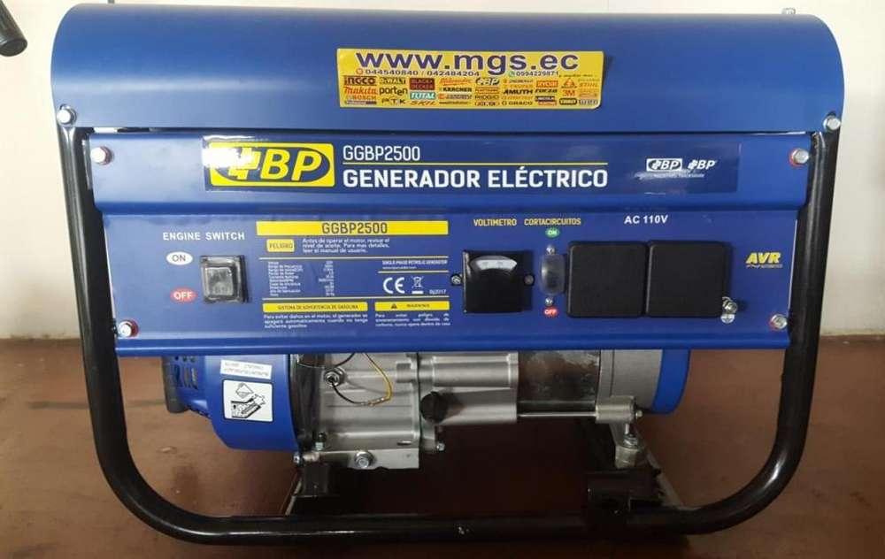 GENERADOR A GASOLINA 2.2KW 110V 6.5HP 3000RPM MARCA BP