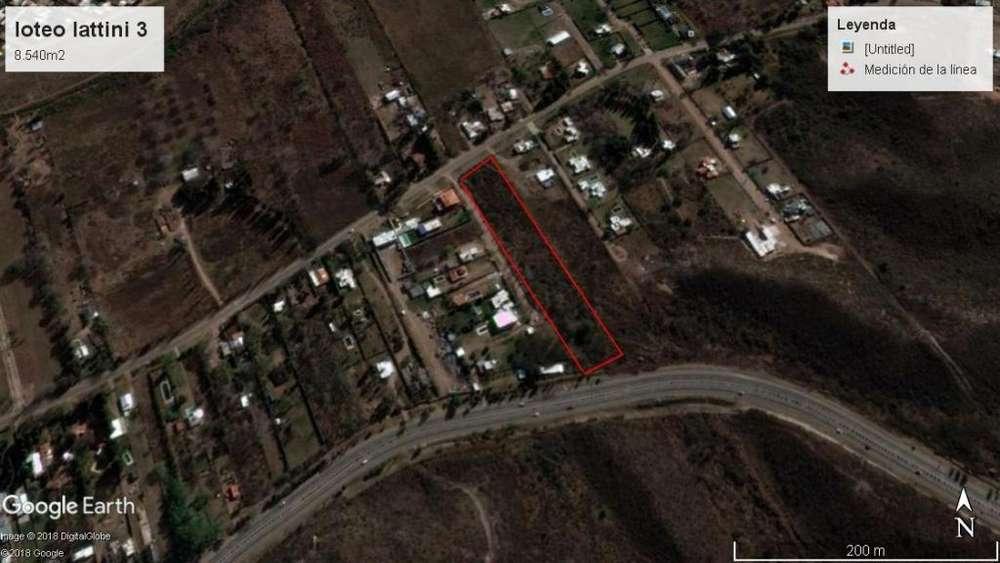 VENDO <strong>terreno</strong> de 8.540m2 en Las Chacras, San Luis