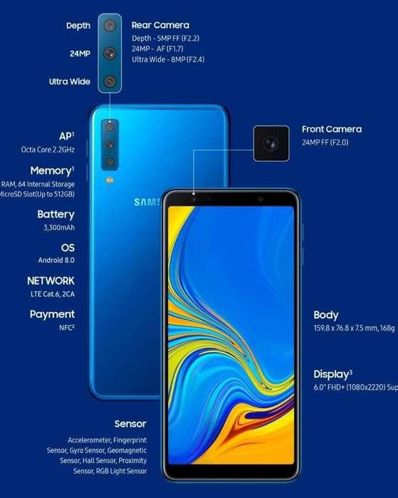 Samsung A7 64gb Blue