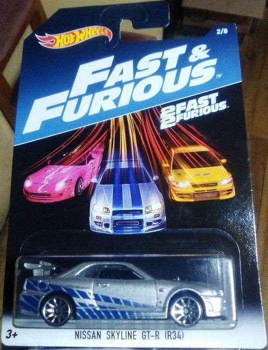 Hot Wheels Nissan Skyline GT-R R34 Rápidos y Furiosos