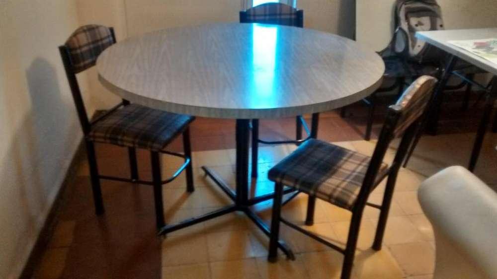 mesa 1,20 y 3 sillas
