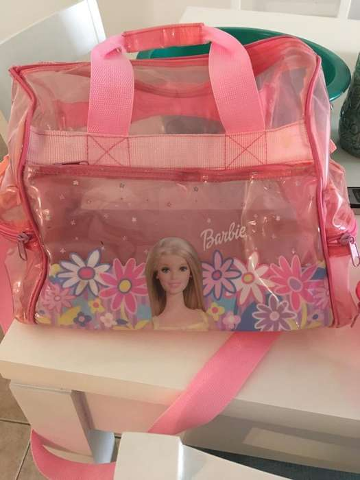 IDEAL DIA DEL NIÑO!! Bolso Barbie Y Portacosmeticos