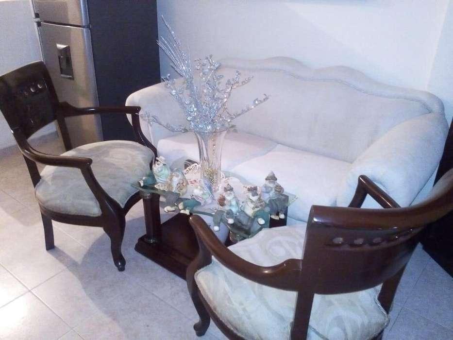 hermosa sala con isabelinas