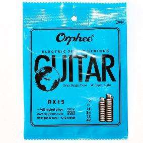 Encordado Orphee RX15 Nickel Para Guitarra Eléctrica .00942