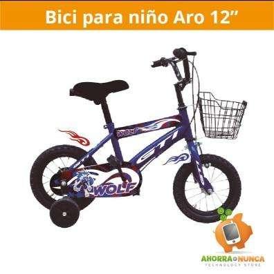 Bicicleta aro 12 de niño, varios modelos