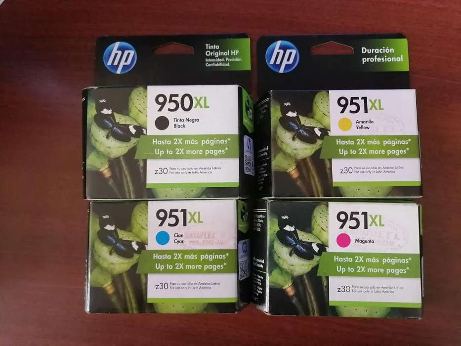 Vendo 8 Tintas Hp 950xl Y 951xl