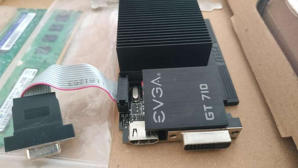 Tarjeta Nvidia Gt 710 2gb Más 4gb Ram