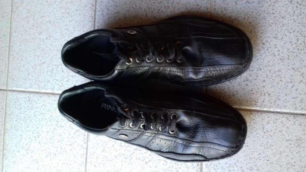 Escolar Zapatos Ringo cuero negro