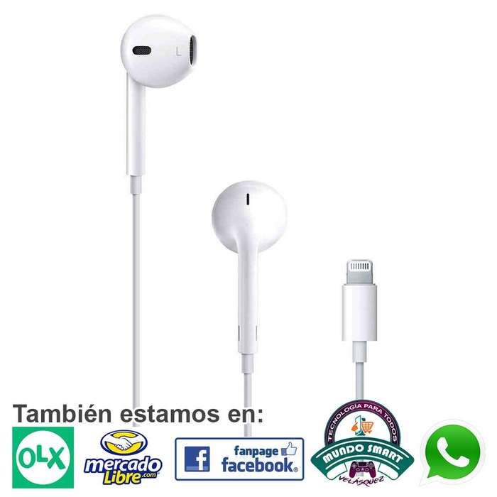 Earpods Apple Audifonos Originales Iphone Manos Libres con conector Lightning