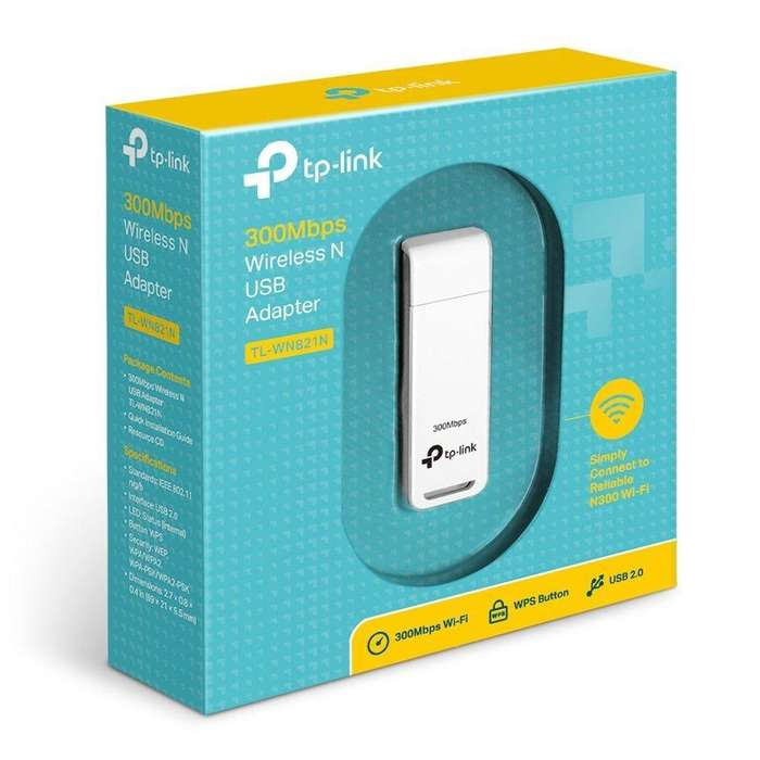 Adaptador Tp link Usb <strong>wifi</strong> Laptop Y Pc N 300mbps Tl wn821n
