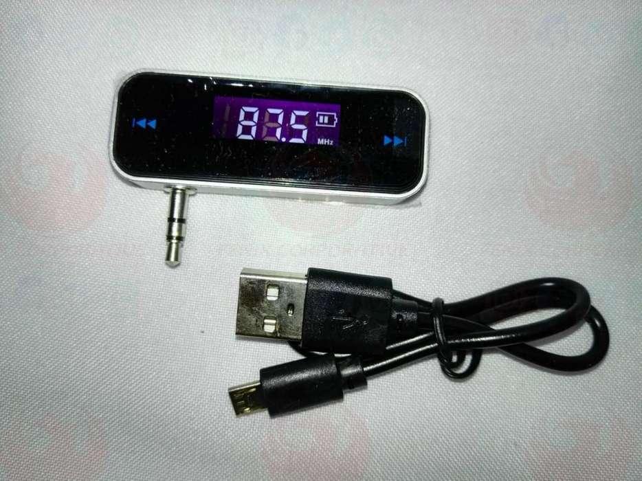 Transmisor Fm Portátil Mp3 Mp4 Ajuste Frecuencia Digital