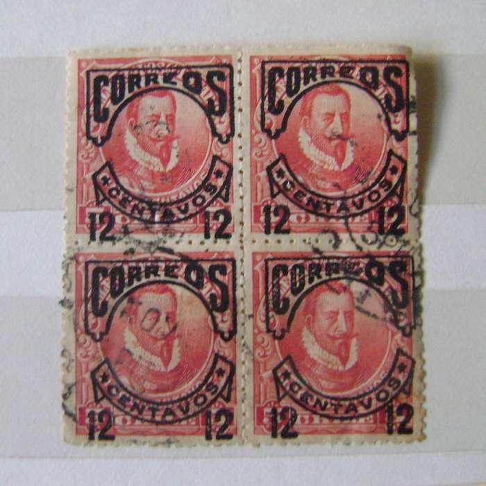 Estampillas Chile 1904 provisional cuadro Sc#67 / Maxim Nord