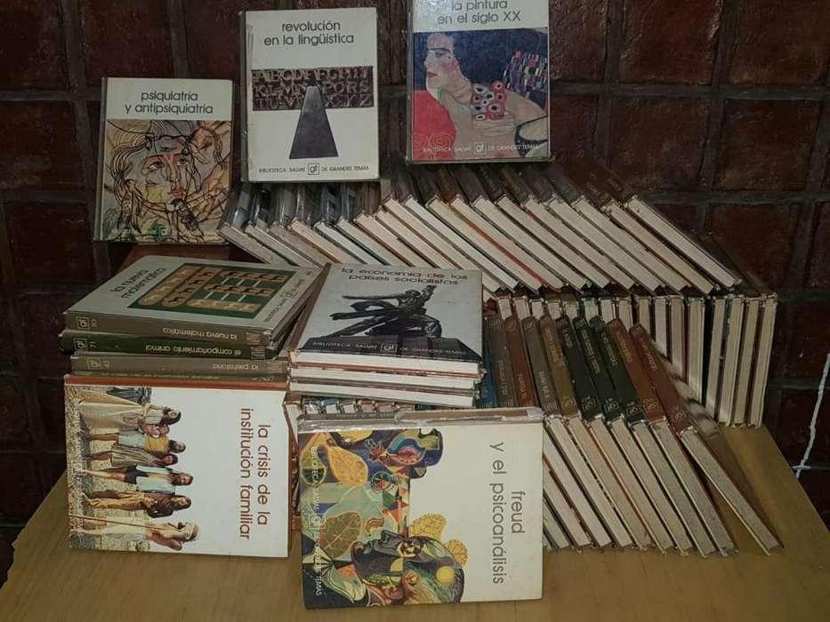 vendo coleccion de biblioteca salvat grandes temas precio 3500