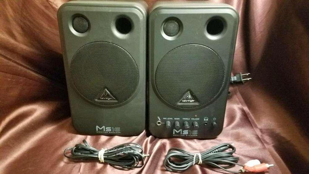 <strong>monitor</strong>es de audio Behringer Ms 16 usados
