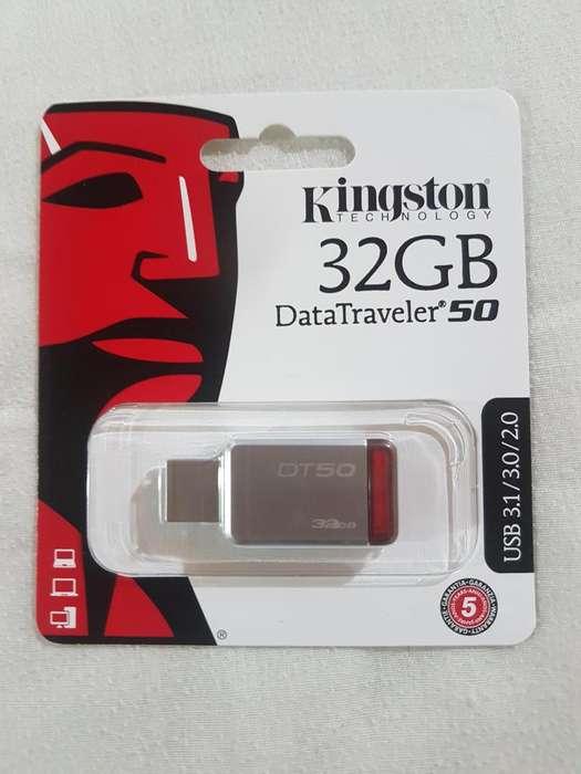 USB 32 Gb 2.0/3.0/3.1 Gen 1Kingston DT50