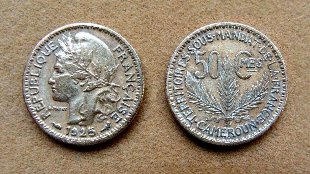 Moneda de 50 céntimos Camerún administración francesa 1925