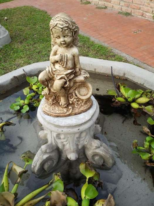 Angel estatua de cemento