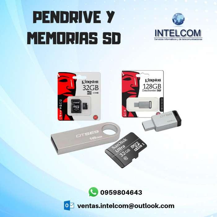 PENDRIVE Y MEMORIAS SD