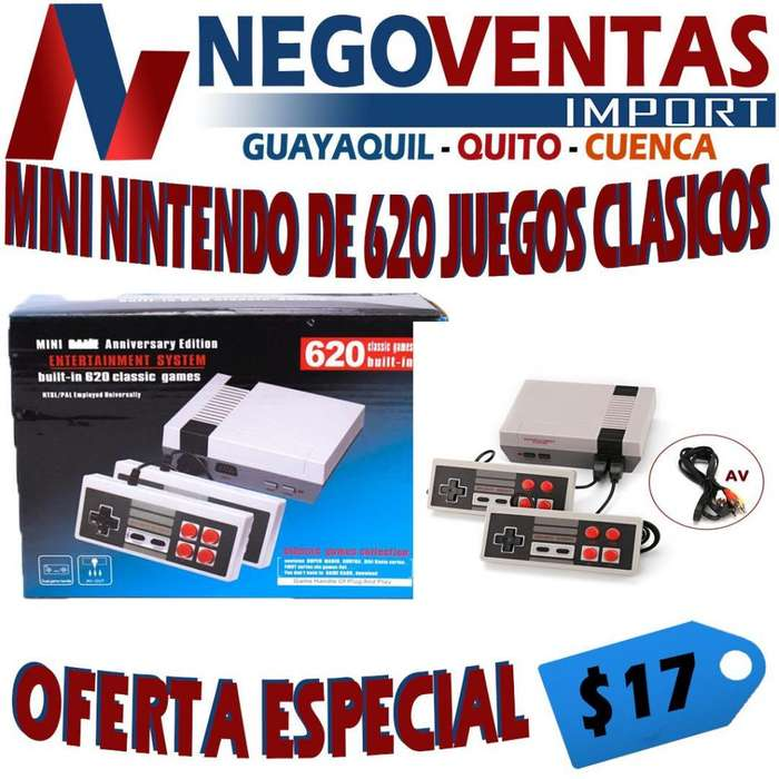 <strong>consola</strong> DE JUEGO CLASICO 620 JUEGOS INCLUYE DOBLE PLANCA