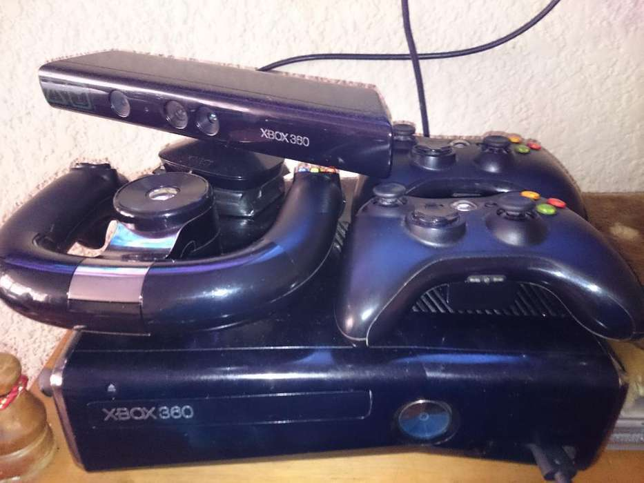 Xbox 360 Slim 250gb Kinect, Volante Hdmi