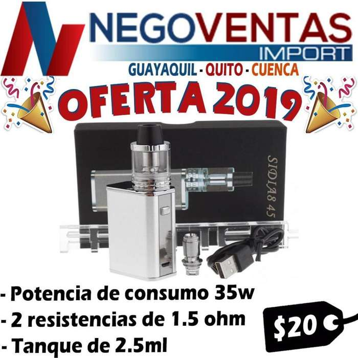 CIGARRILLO ELECTRONICO VAPEADOR SIDIA8 45 CON 35 WATTS DE POTENCIA