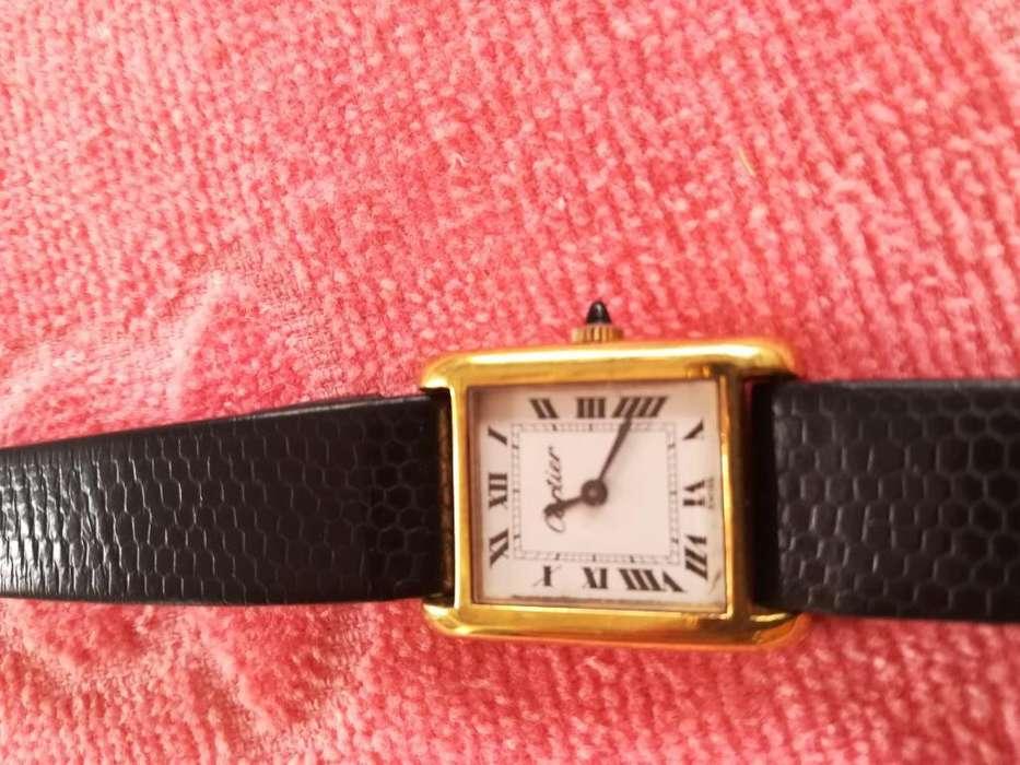 Cartier, Cuerda, 17 Jewels, Máquina Oro