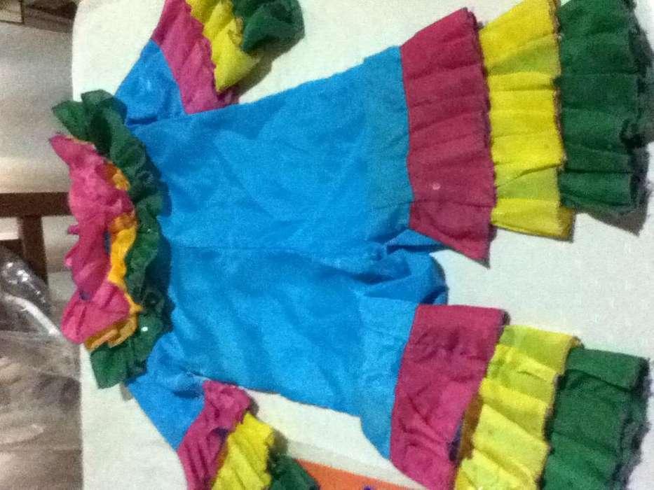 Disfraz payaso multicolor de 90 cm. para niños en perfecto estado casi sin uso