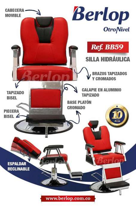 <strong>silla</strong>s de barbería BB59