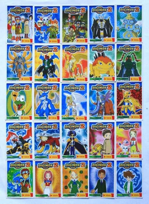 Lote De Tarjetas Digimon 2 Mcdougal Cards