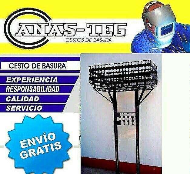 DOBLES GRANDES CESTOS CANASTOS PARA BASURA RESIDUOS